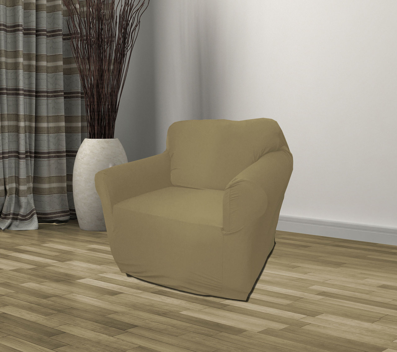 taupe chair covers where to buy a bean bag jersey sofa stretch slipcover couch cover love seat kashi home loveseat