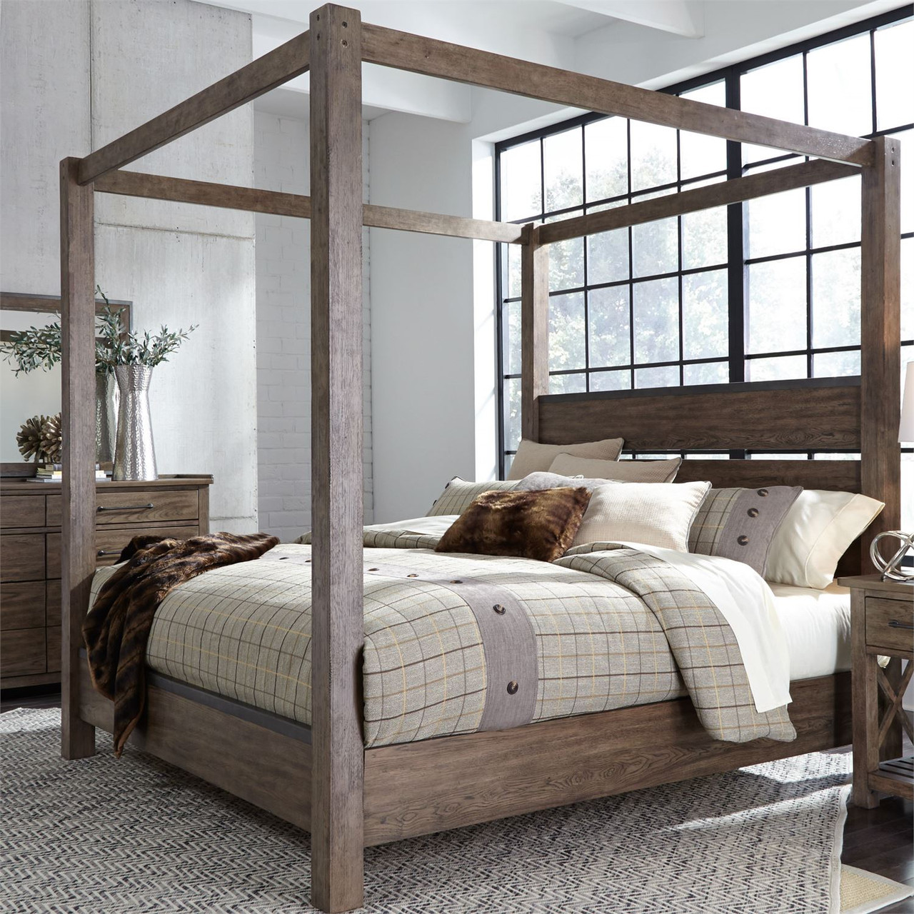sonoma road canopy bed queen