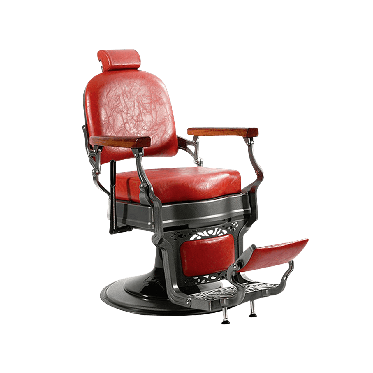 Red Barber Chair Gabriel Designer Vintage Barber Chair Red