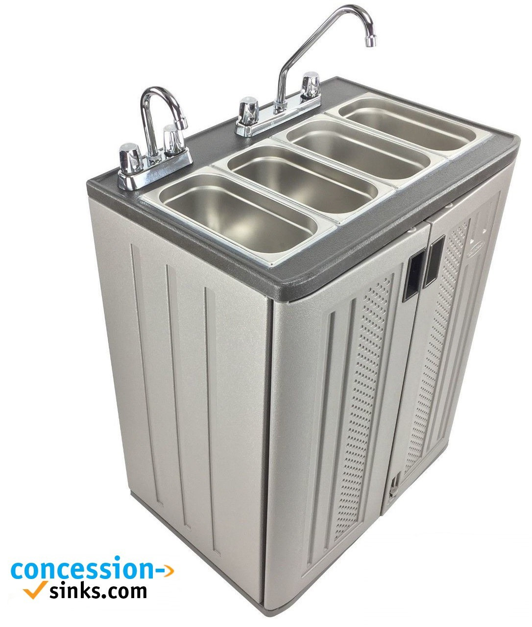 mobile concession sink portable food truck trailer 4 compartment hand wash hot 35 0090