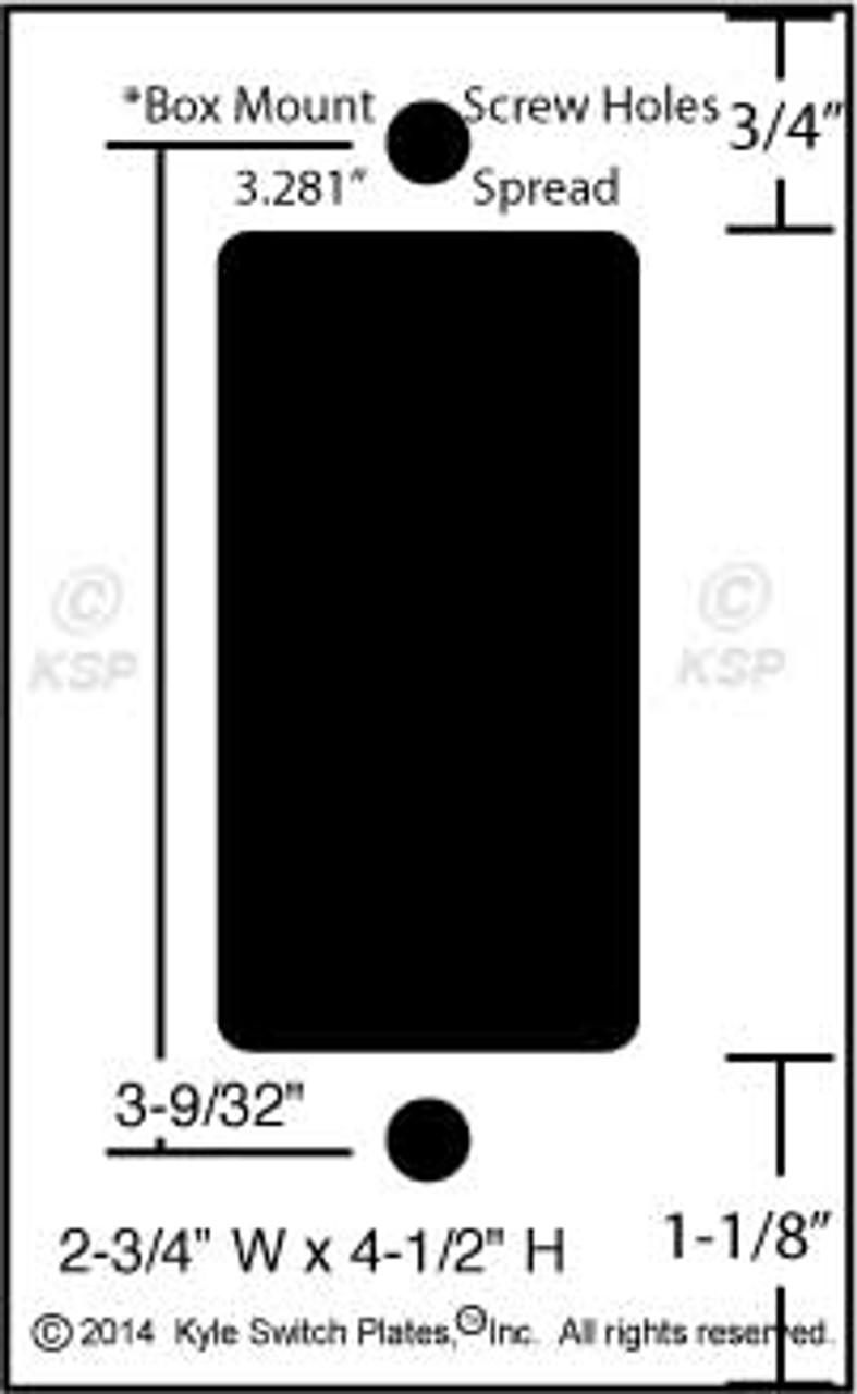Switch Plate Dimensions : switch, plate, dimensions, Short, Trimmed, Rocker, Switch, Plates, Decora, Device, Outlet