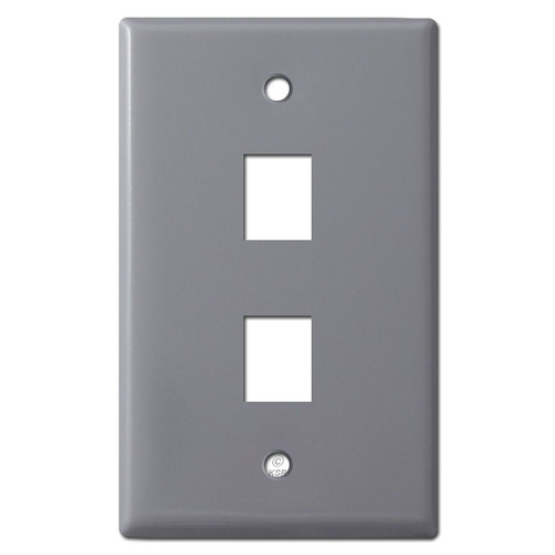 gray cable outlet phone jack wall