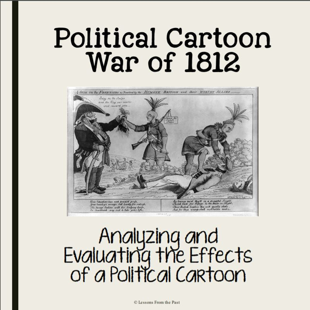 Political Cartoon War of 1812-Were British Actions Humane? - Amped Up  Learning [ 1280 x 1280 Pixel ]