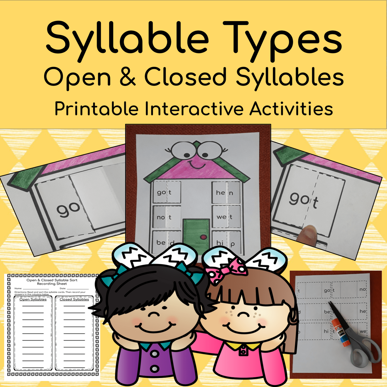 medium resolution of Syllable Types: Open \u0026 Closed Syllable Interactive Printable Activity Pack