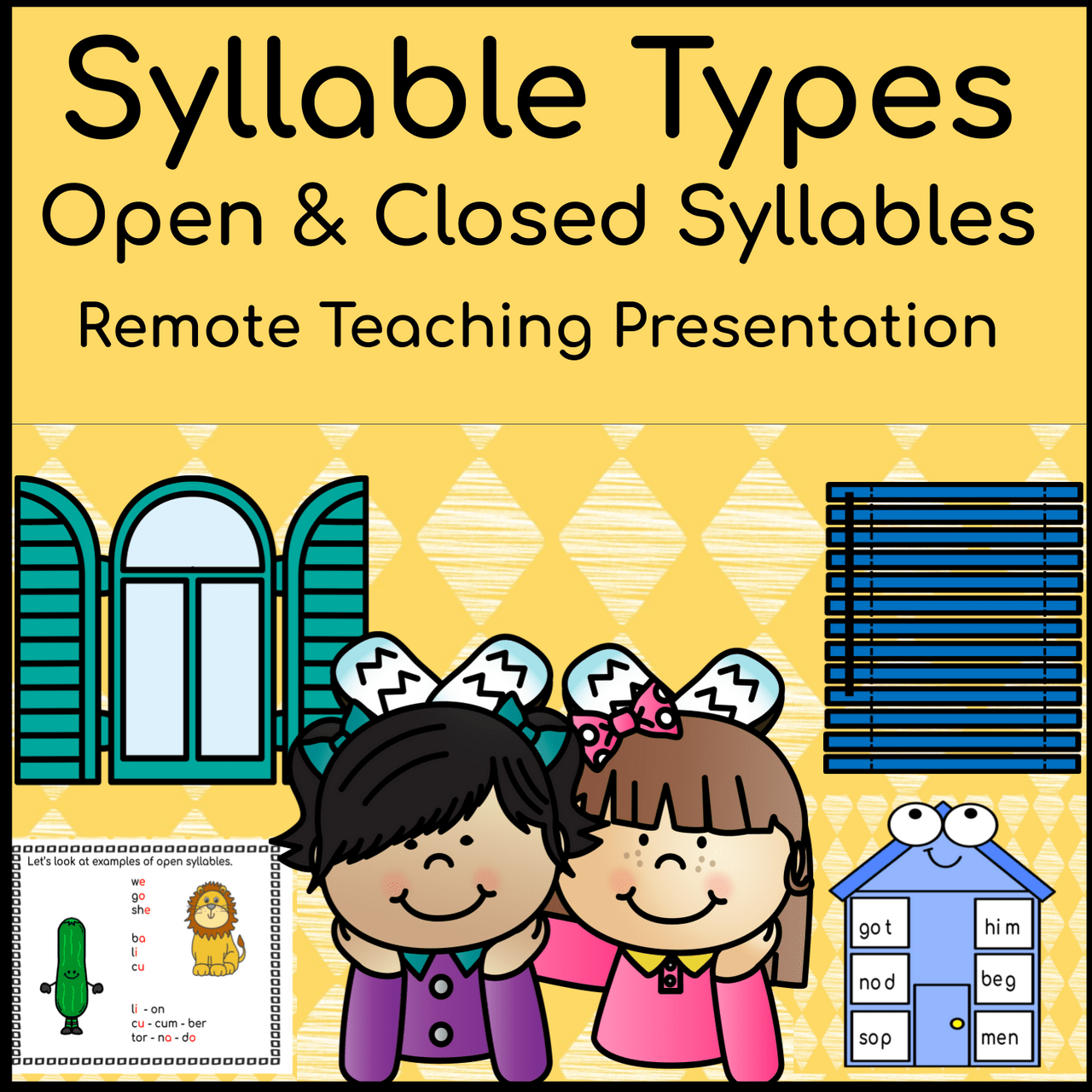 small resolution of Syllable Types: Open \u0026 Closed Syllables Distance Learning Activities  (Remote Ready Resource) - Amped Up Learning