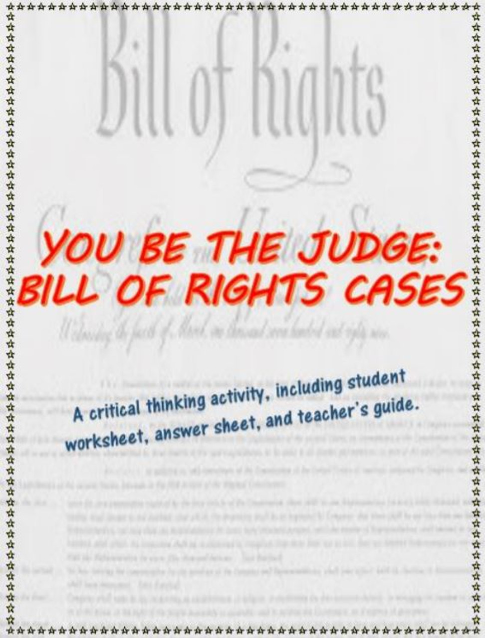 You Be the Judge - analyzing Supreme Court cases on the Bill of Rights -  Amped Up Learning [ 1280 x 972 Pixel ]