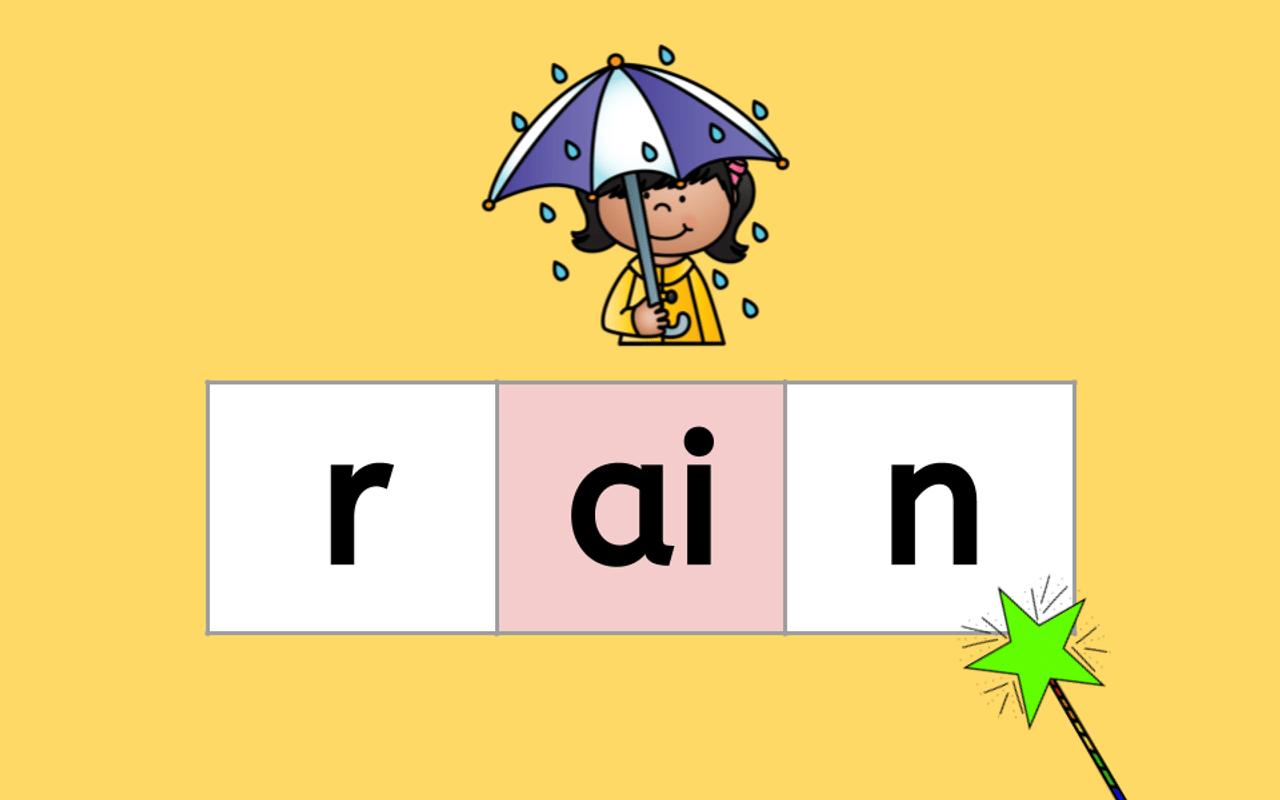 hight resolution of Distance Learning Structured Phonics -AI \u0026 -AY Word Chains (Remote Ready  Resource)