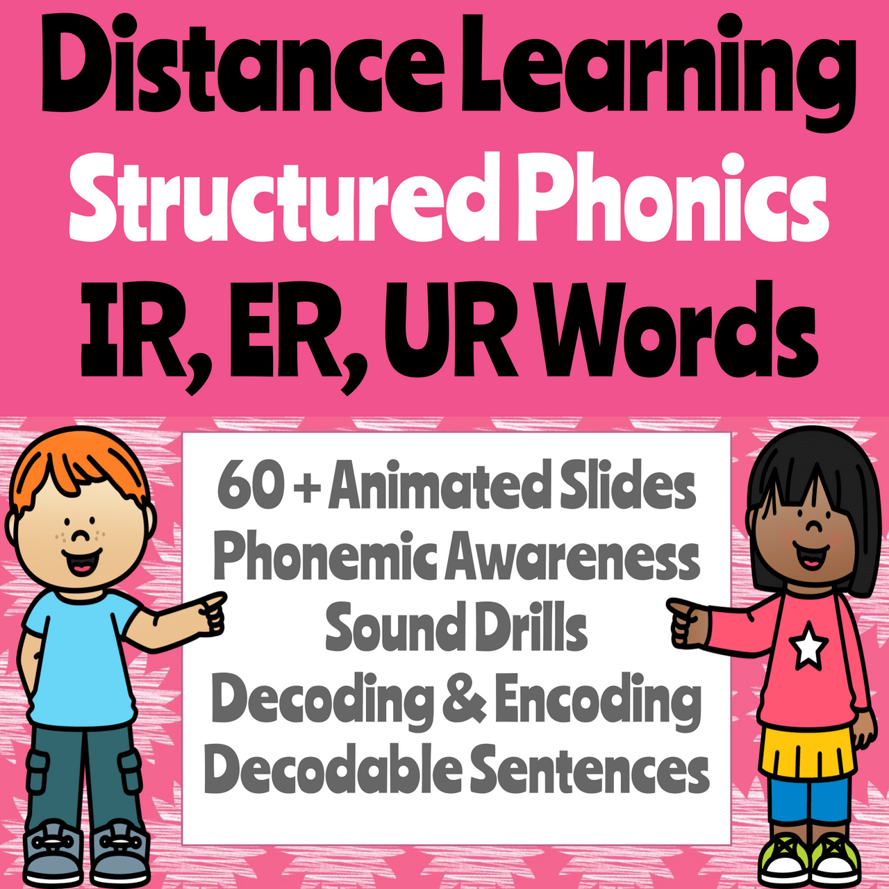 hight resolution of Distance Learning Phonics Presentation for -ER/-IR/-UR R-Controlled Vowel  Words (Remote Ready