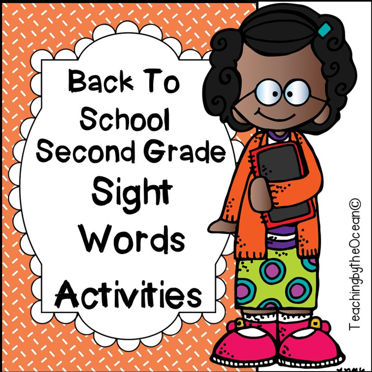 Second Grade Sight Words Worksheets - Back to School Themed - Amped Up  Learning [ 1280 x 1280 Pixel ]