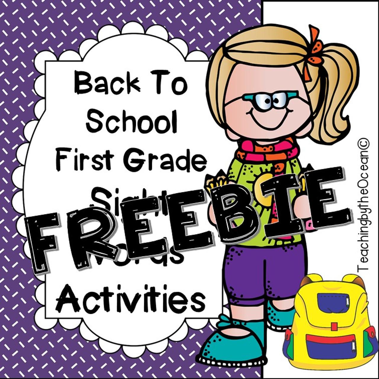 First Grade Sight Words Activities - Back to School Themed FREEBI [ 1280 x 1280 Pixel ]