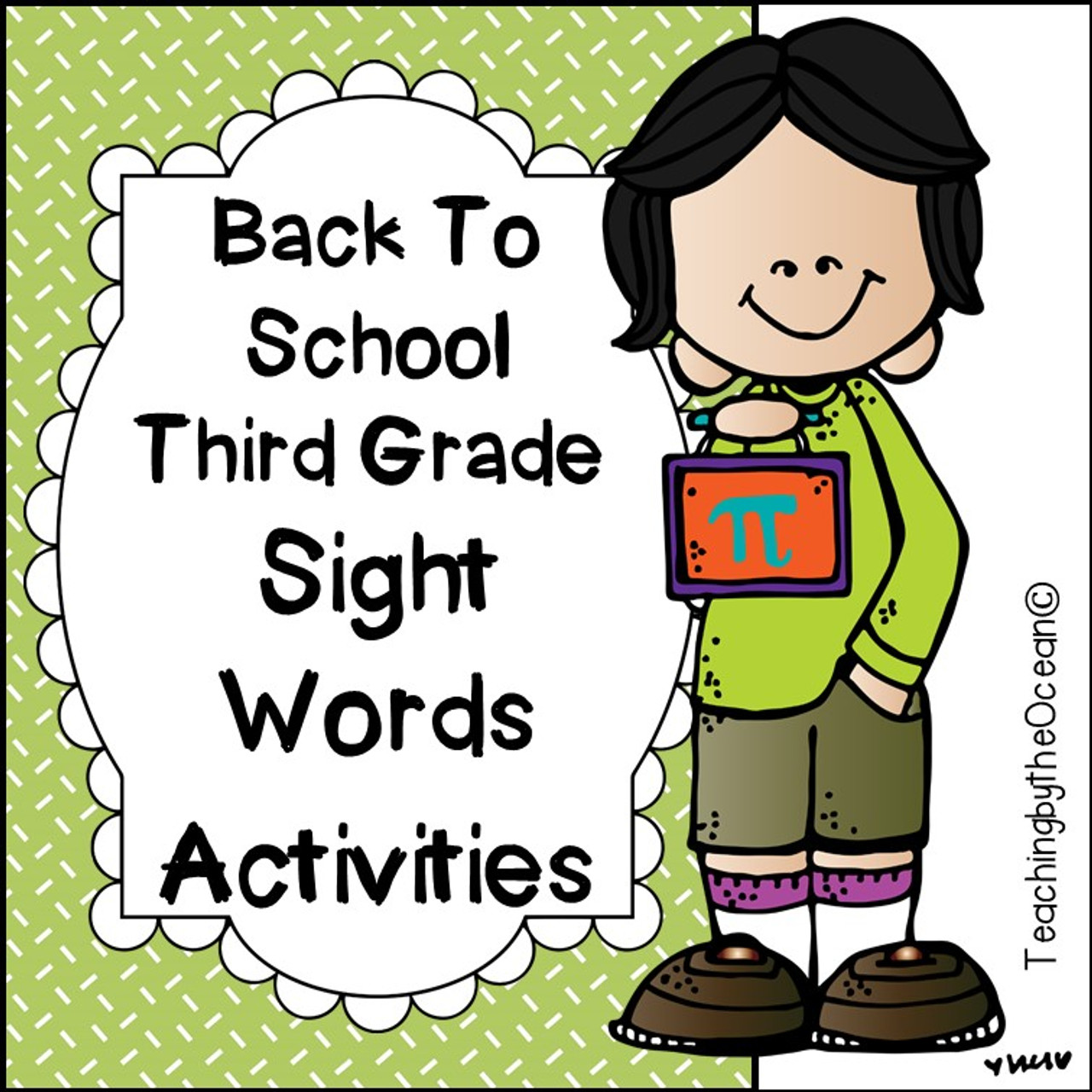 Third Grade Sight Words Worksheets - Back to School Themed - Amped Up  Learning [ 1280 x 1280 Pixel ]