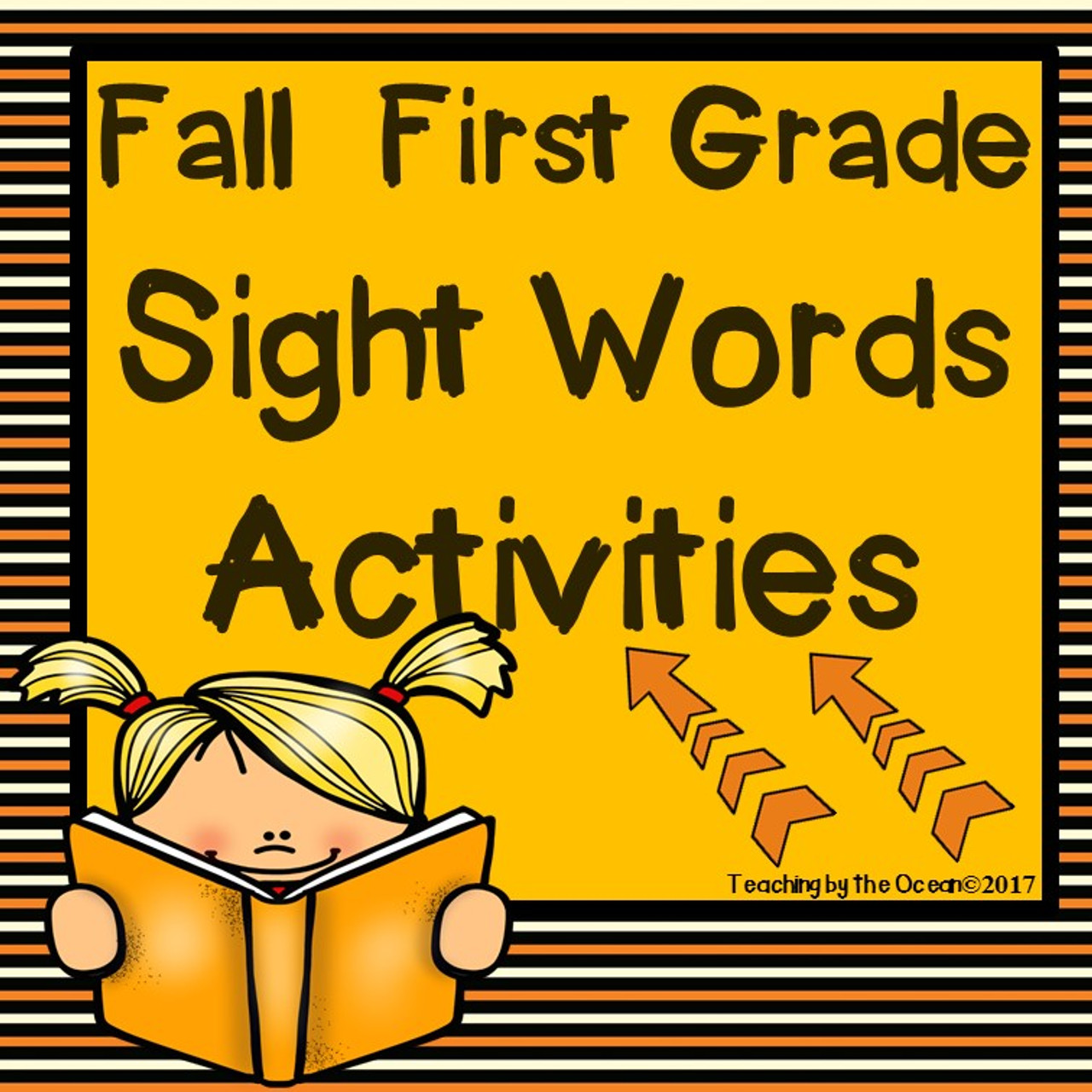 First Grade Sight Words Worksheets - Fall Themed [ 1280 x 1280 Pixel ]