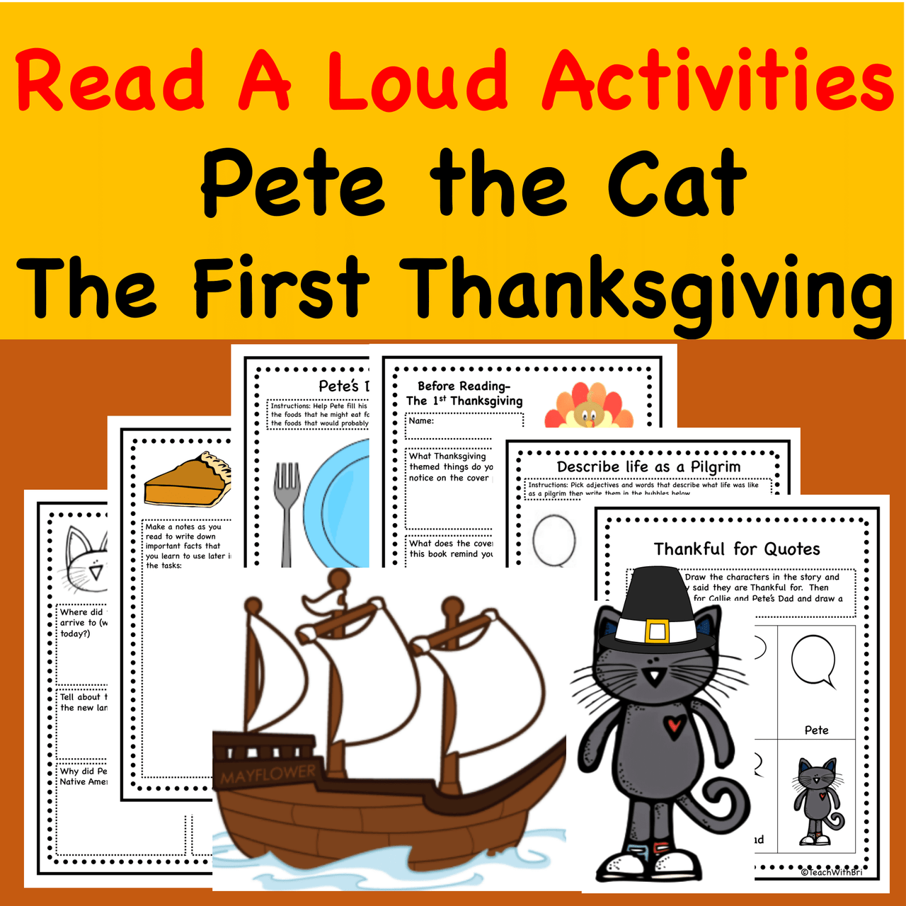 small resolution of Pete the Cat the First Thanksgiving