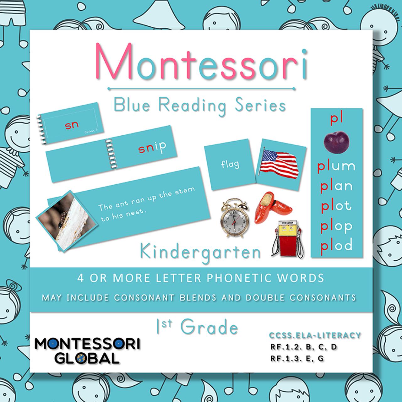 hight resolution of Montessori Blue Reading Series - Consonant Blends