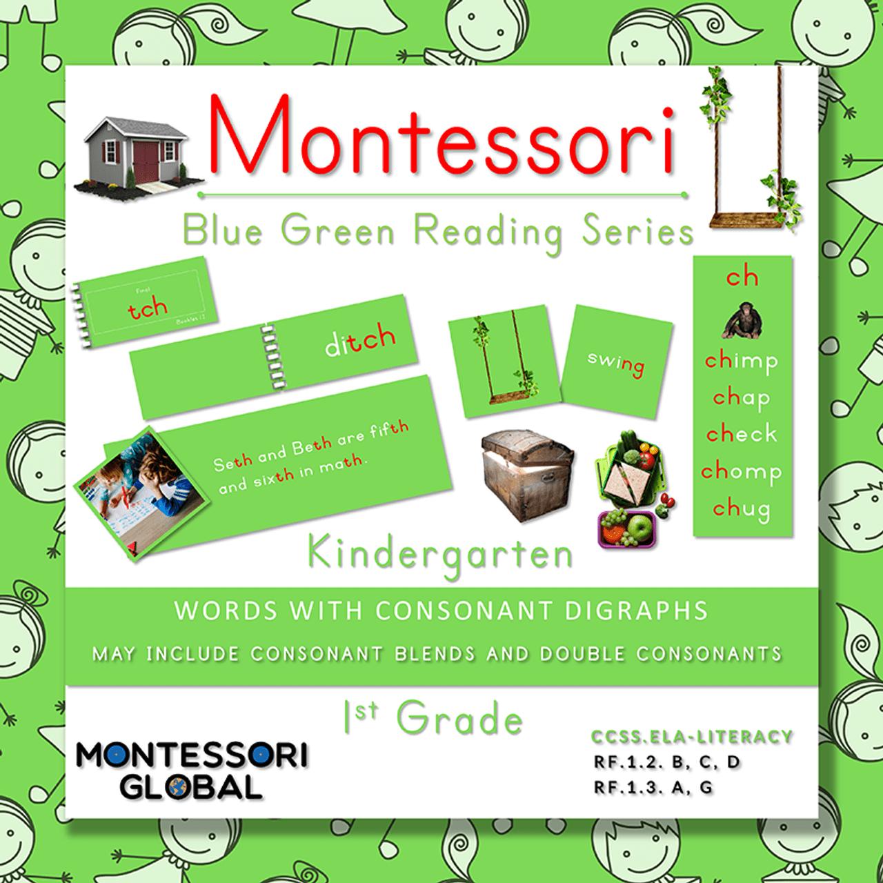 Montessori Blue Green Reading Series - Consonant Blends [ 1280 x 1280 Pixel ]