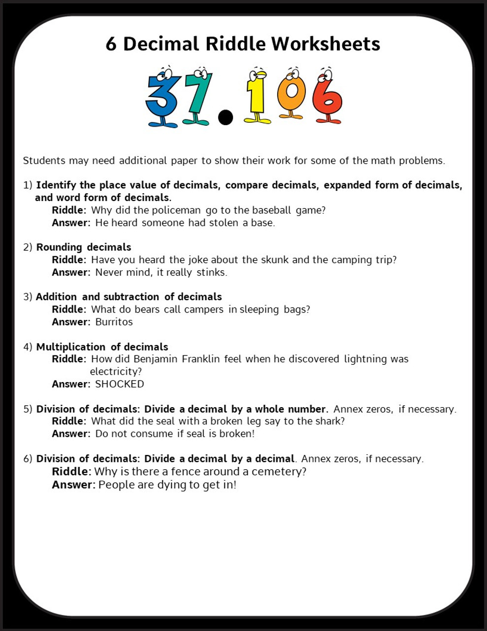 medium resolution of Decimal Worksheets for 5th and 6th Grade - Add