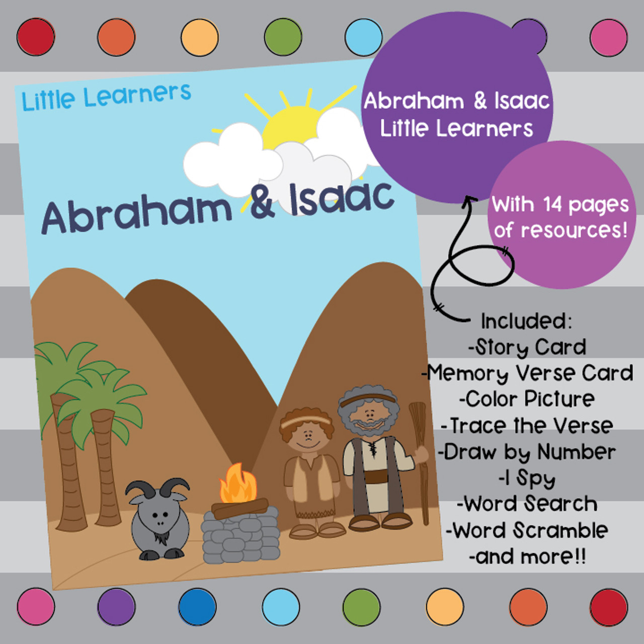Abraham and Isaac Bible Lesson - Little Learners by Creatively Taught [ 1280 x 1280 Pixel ]