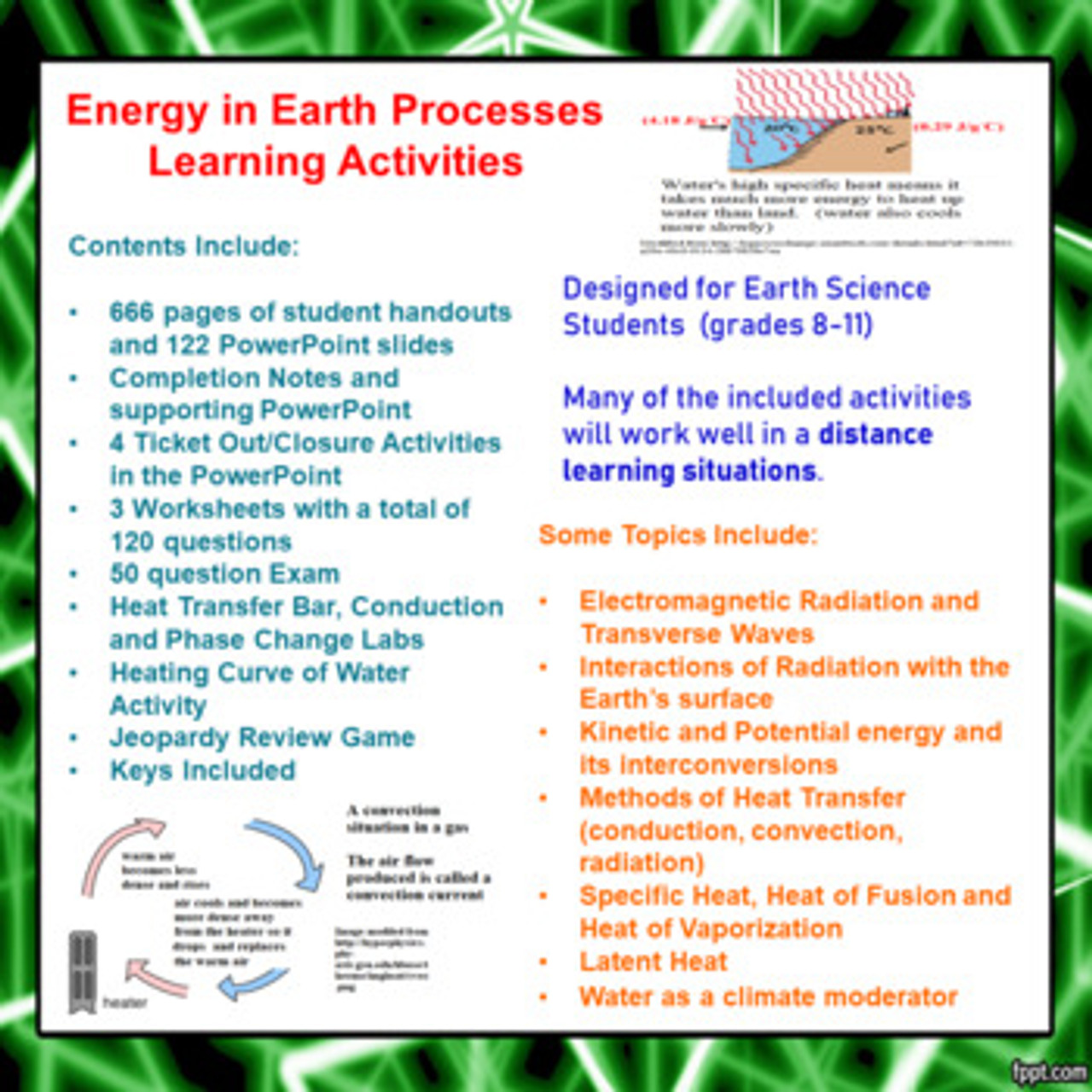 hight resolution of Energy in Earth Processes Learning Activities (Distance Learning)