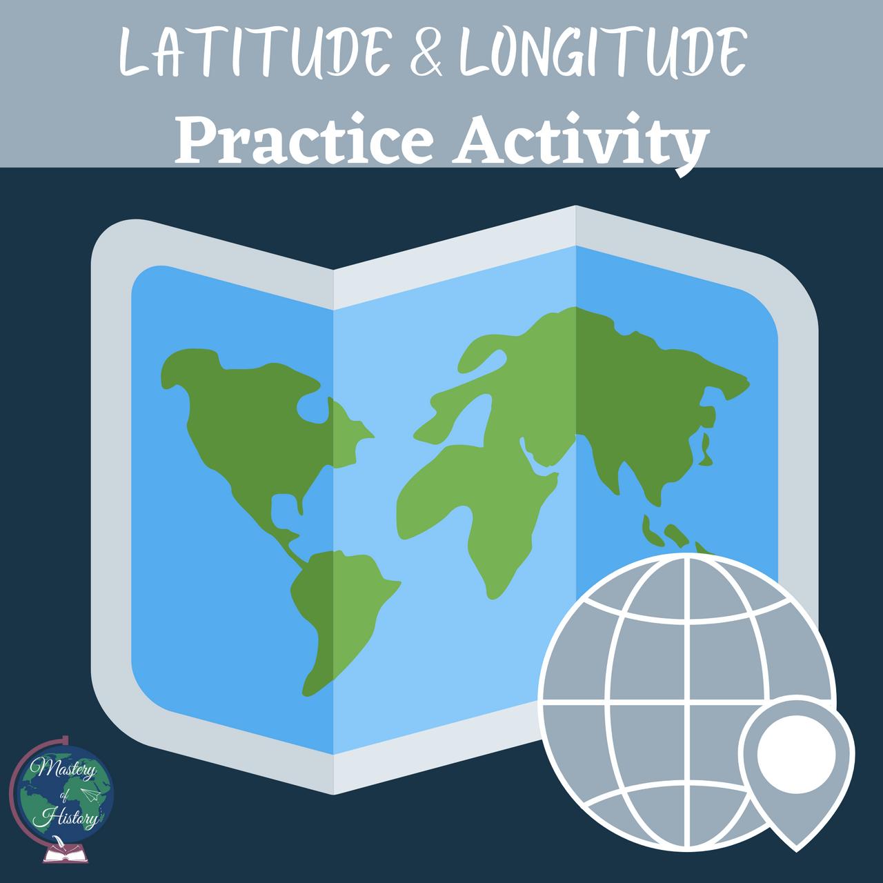Latitude \u0026 Longitude Practice Worksheets - Amped Up Learning [ 1280 x 1280 Pixel ]