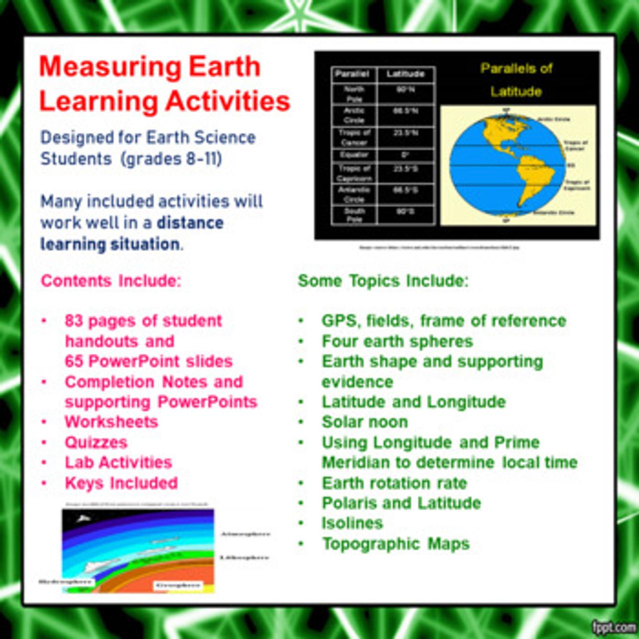 medium resolution of Measuring Earth Learning Activities