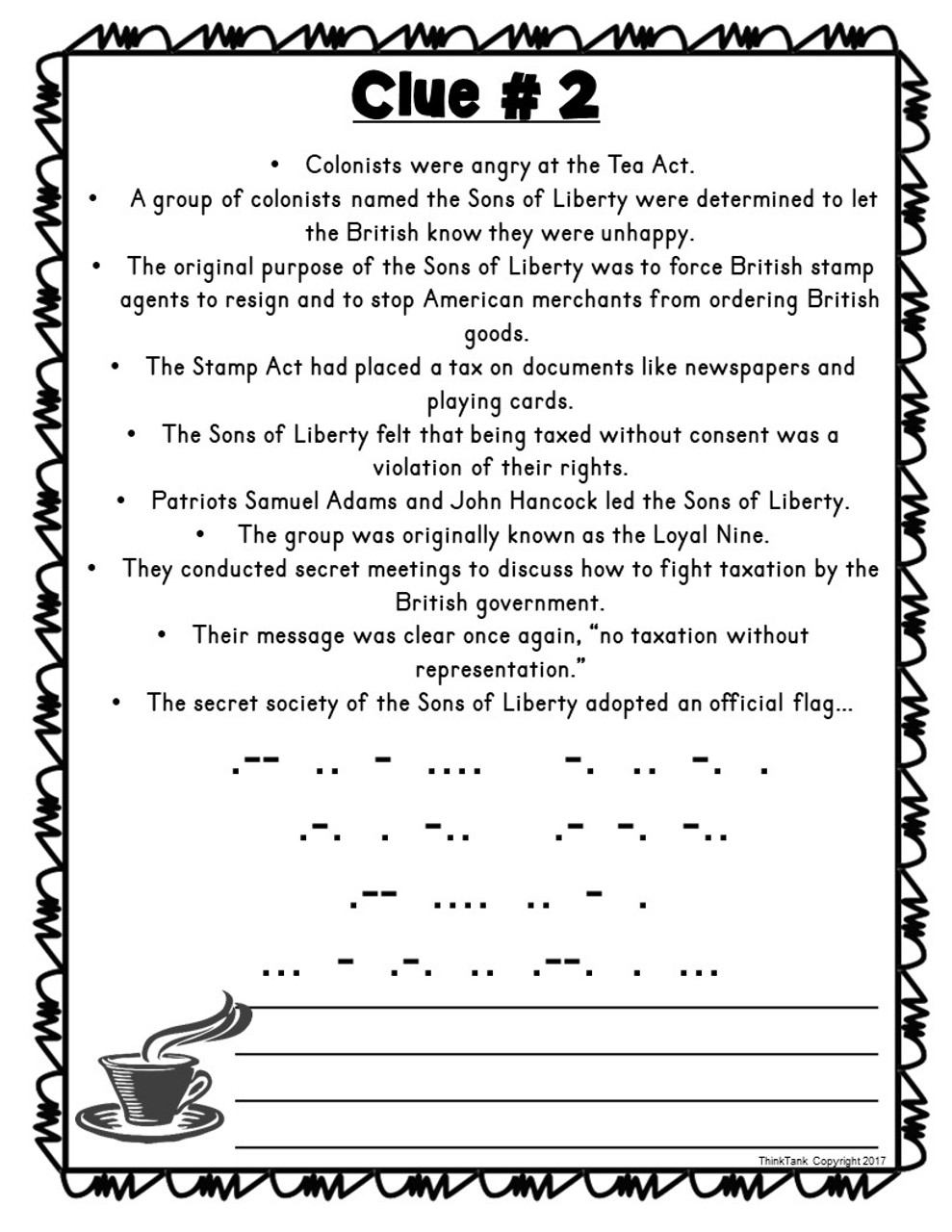 hight resolution of Boston Tea Party ESCAPE ROOM! - Amped Up Learning