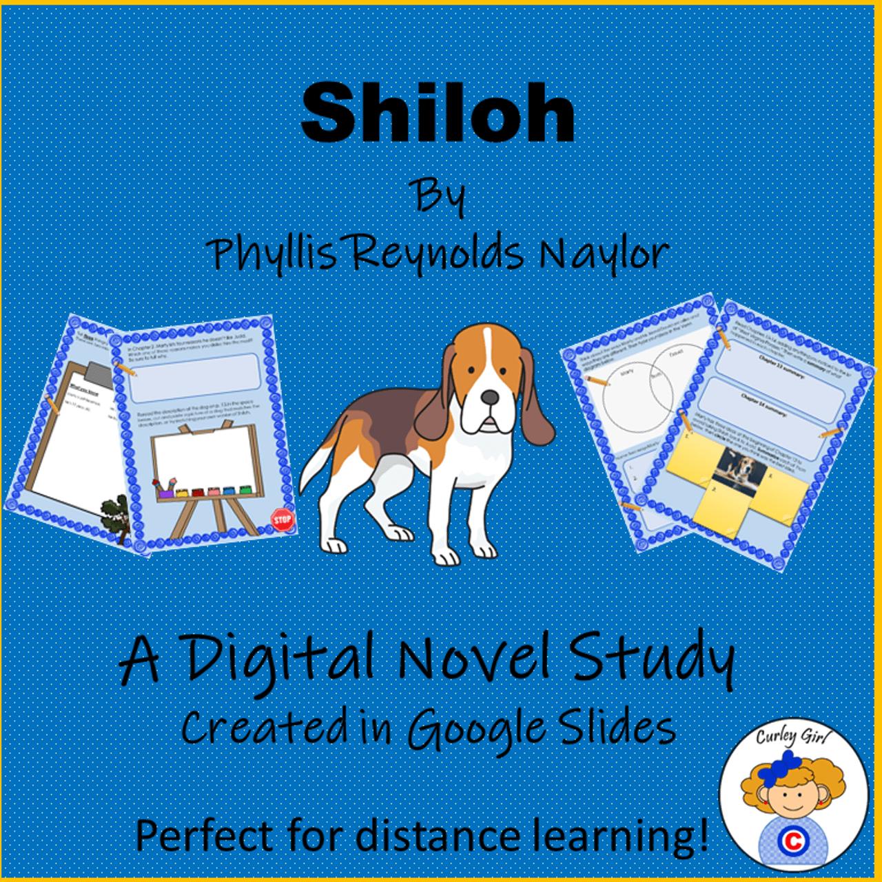 Shiloh Digital Novel Study in Google Slides [ 1280 x 1280 Pixel ]