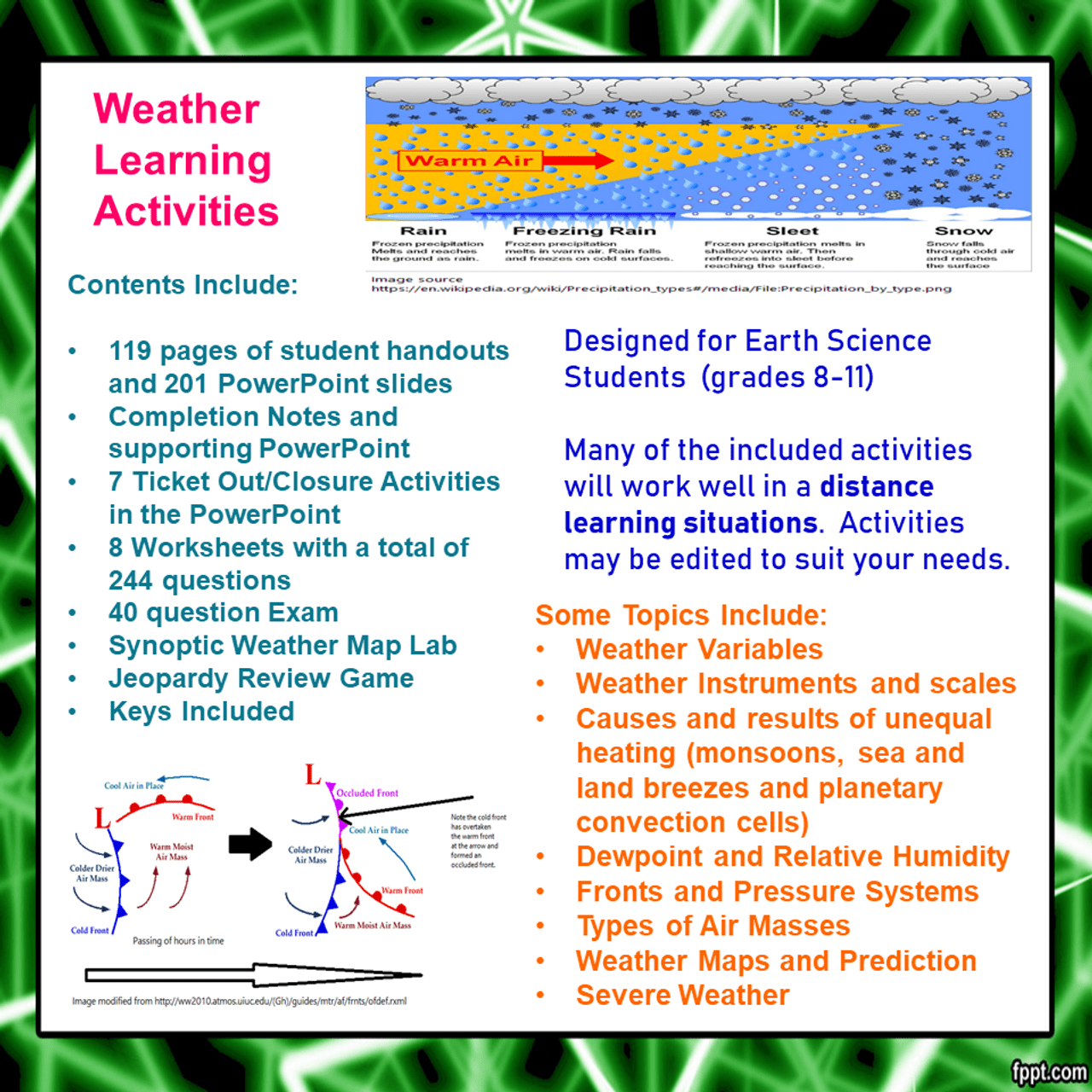 hight resolution of Weather Learning Activities (High School) (Distance Learning)