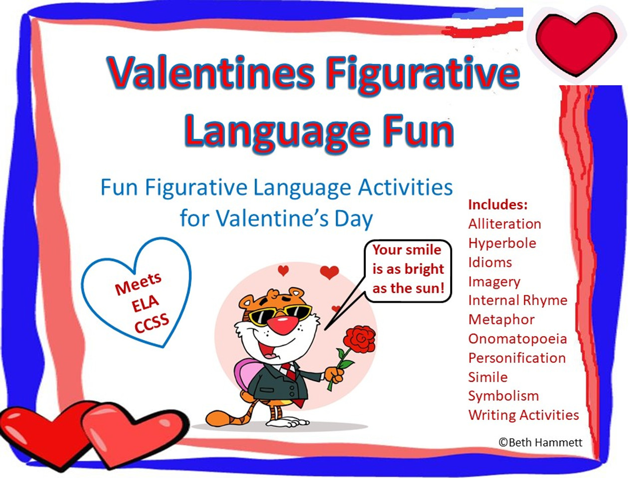Valentine's Day Figurative Language Fun - Amped Up Learning [ 960 x 1280 Pixel ]