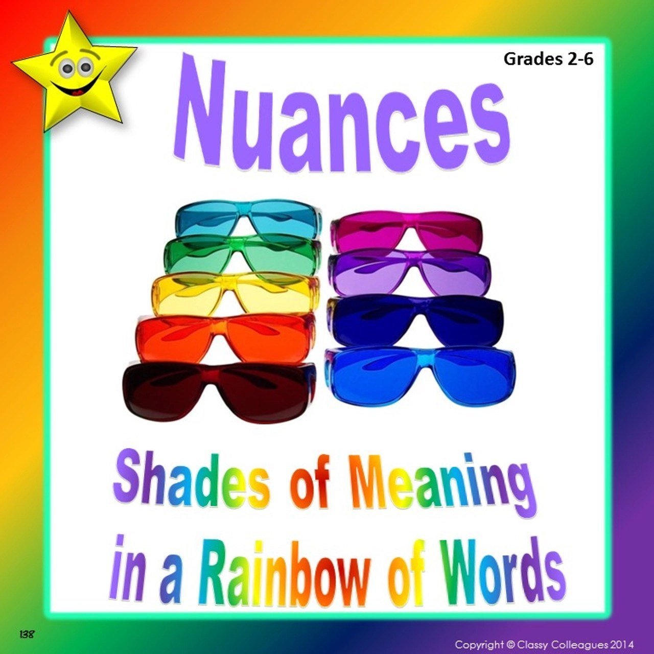 Nuances - Shades of Meaning in a Rainbow of Words - Amped Up Learning [ 1280 x 1280 Pixel ]