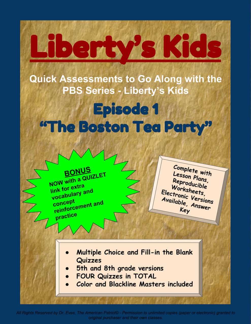 small resolution of Liberty's Kids - Episode 1 - \The Boston Tea Party\ - Amped Up Learning