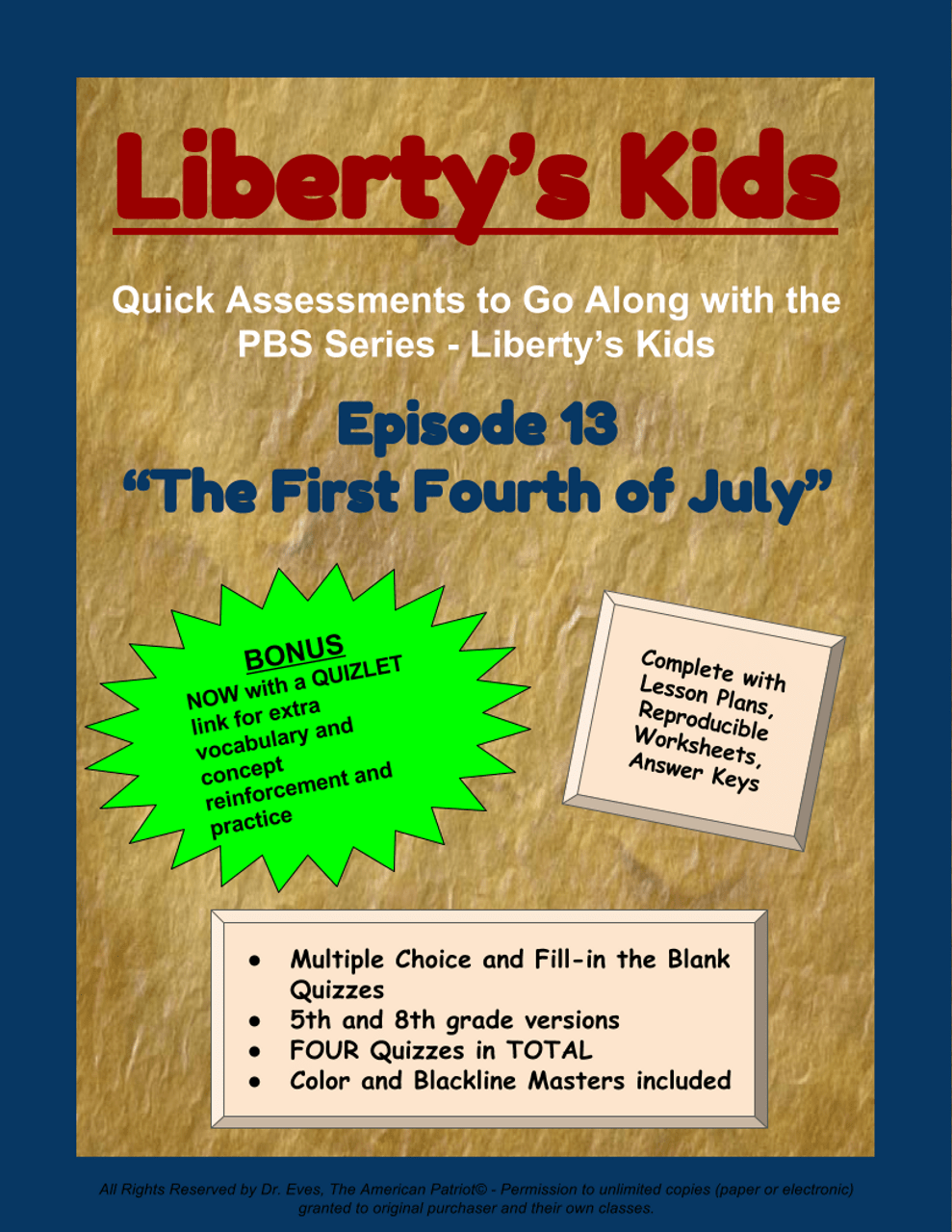 small resolution of Liberty's Kids - Episode 13 - \The First Fourth of July\ - Amped Up Learning