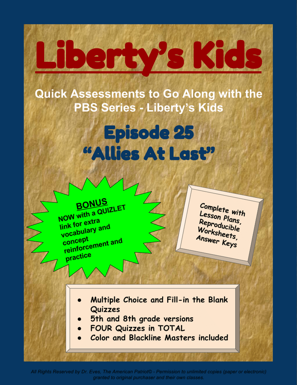 small resolution of Liberty's Kids - Episode 25 - \Allies at Last\ - Amped Up Learning