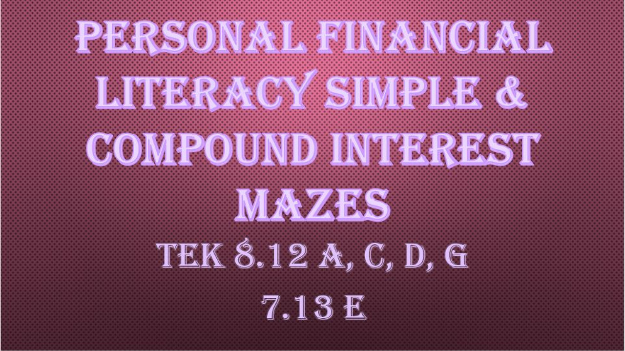 small resolution of Simple \u0026 Compound Interest Mazes - Amped Up Learning