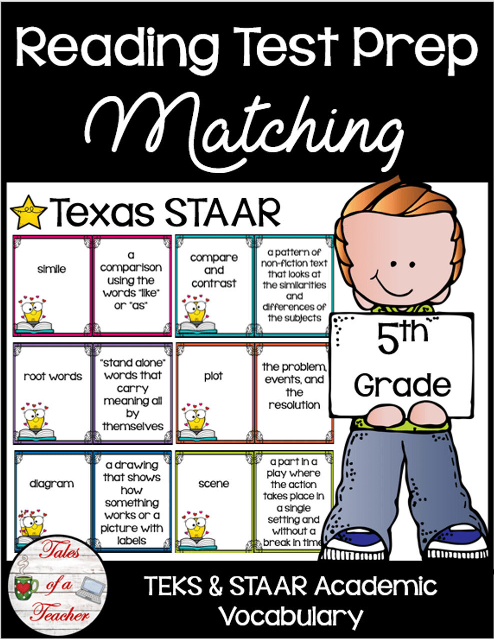 medium resolution of 5th Grade STAAR Reading Matching Test Prep - Amped Up Learning