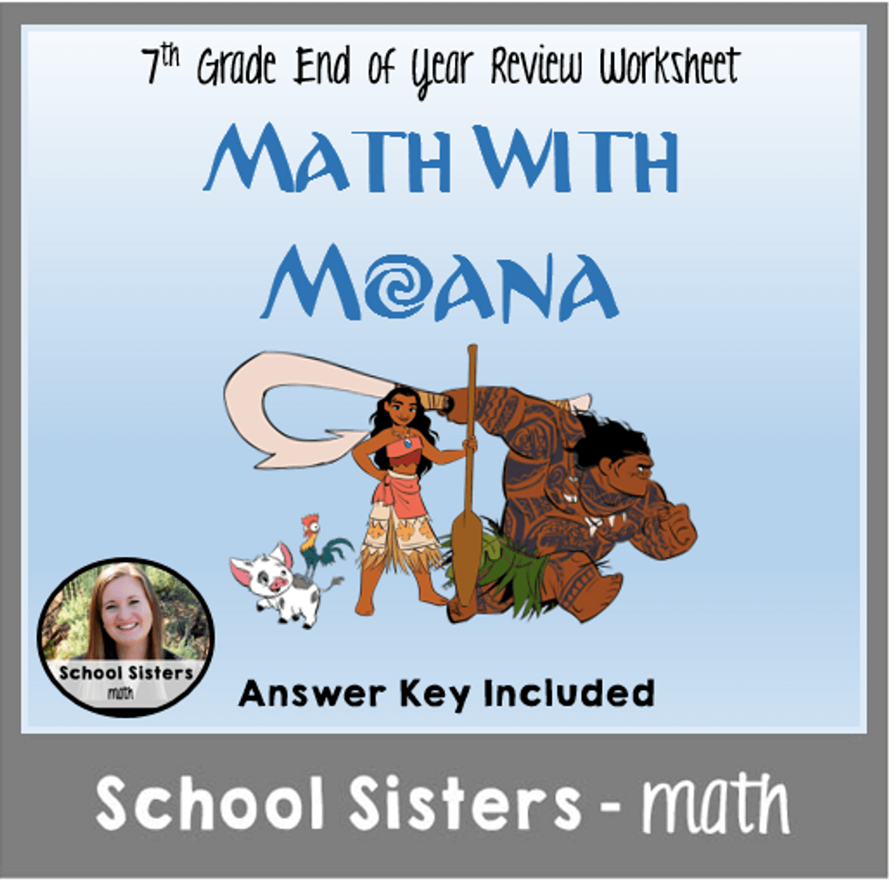 7th Grade Moana Math Review - Amped Up Learning [ 1270 x 1280 Pixel ]