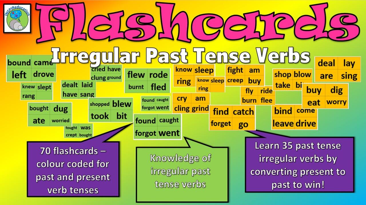 medium resolution of Irregular Verbs - Flashcards (70 Cards) - Amped Up Learning