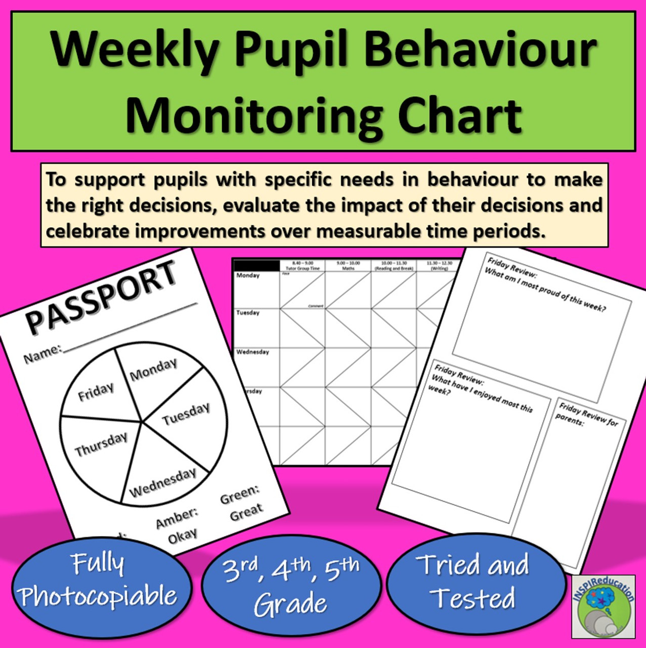 hight resolution of Behaviour Passport - Engaging Pupils to develop good behaviour for learning  - Amped Up Learning
