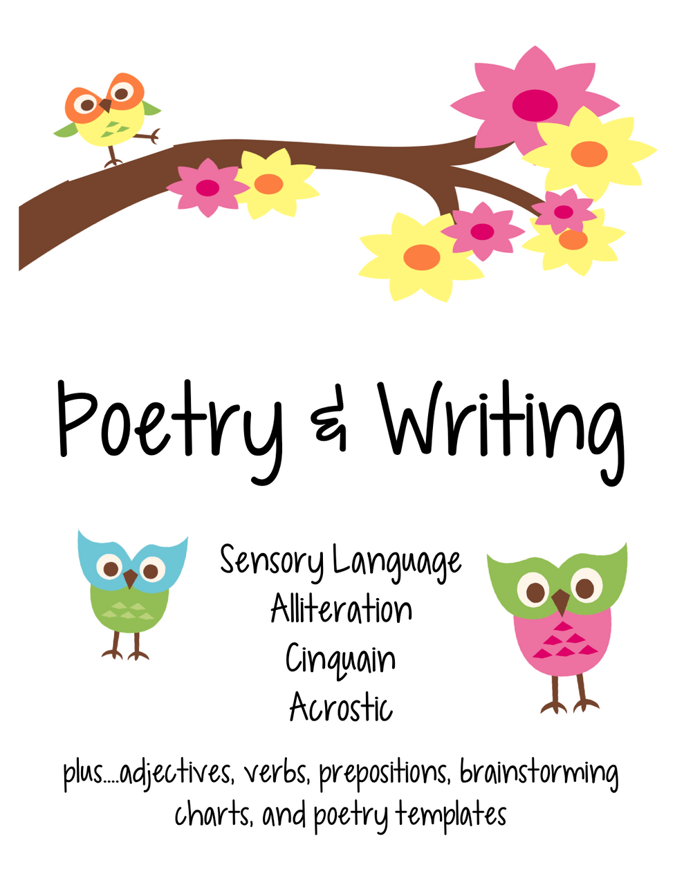 hight resolution of Poetry \u0026 Writing activities with parts of speech - Amped Up Learning