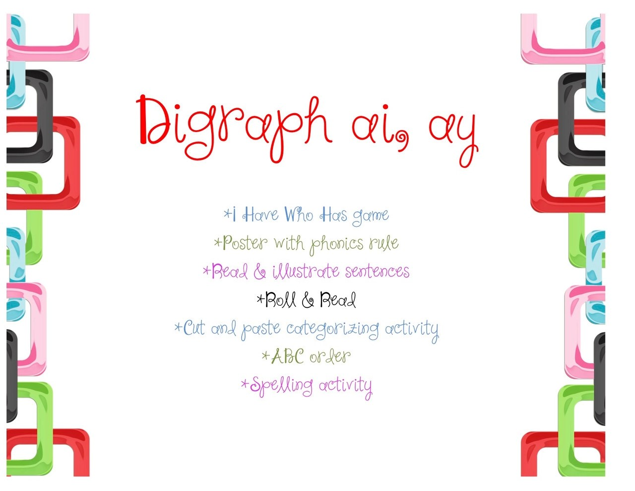 hight resolution of Digraph ai/ay - Amped Up Learning