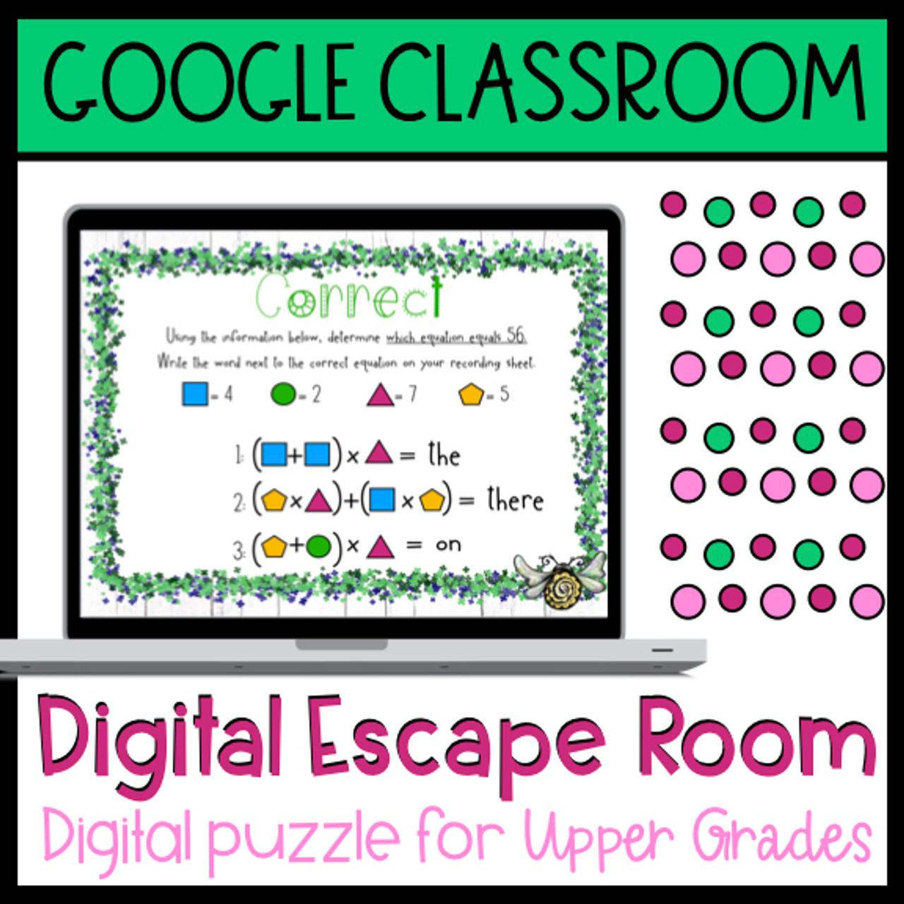 Digital Escape Room for Google Classroom - Math Mixed Operations Review -  Amped Up Learning [ 1280 x 1280 Pixel ]