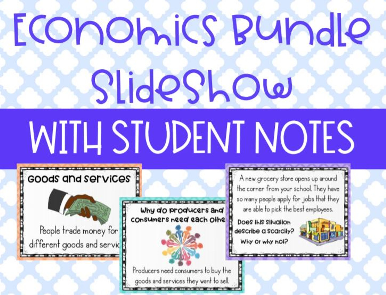 medium resolution of Distance Learning FIVE Social Studies Economics Lessons and Guided Student  Notes