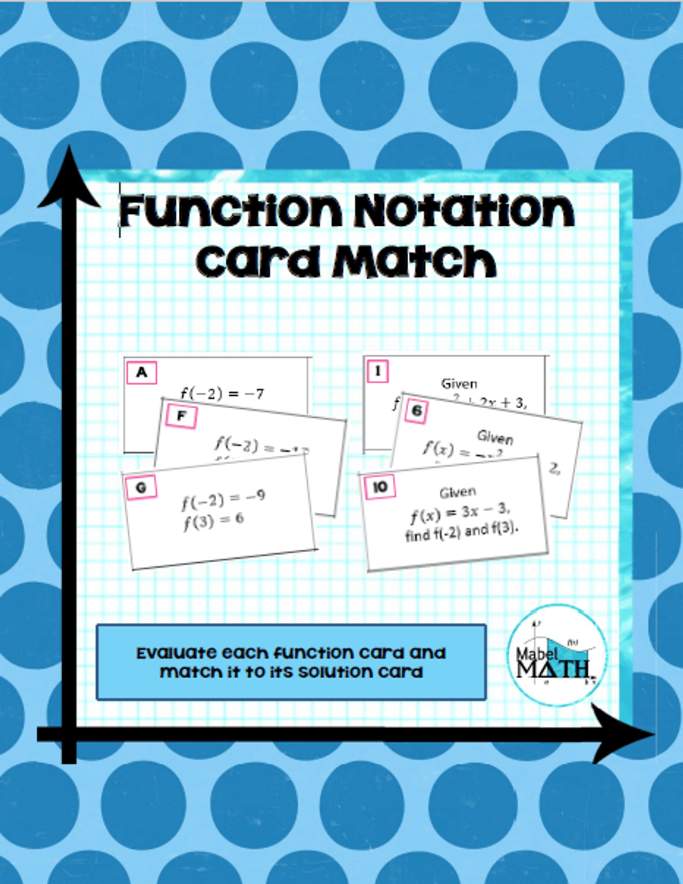 Function Notation Card Match - Amped Up Learning [ 1280 x 989 Pixel ]