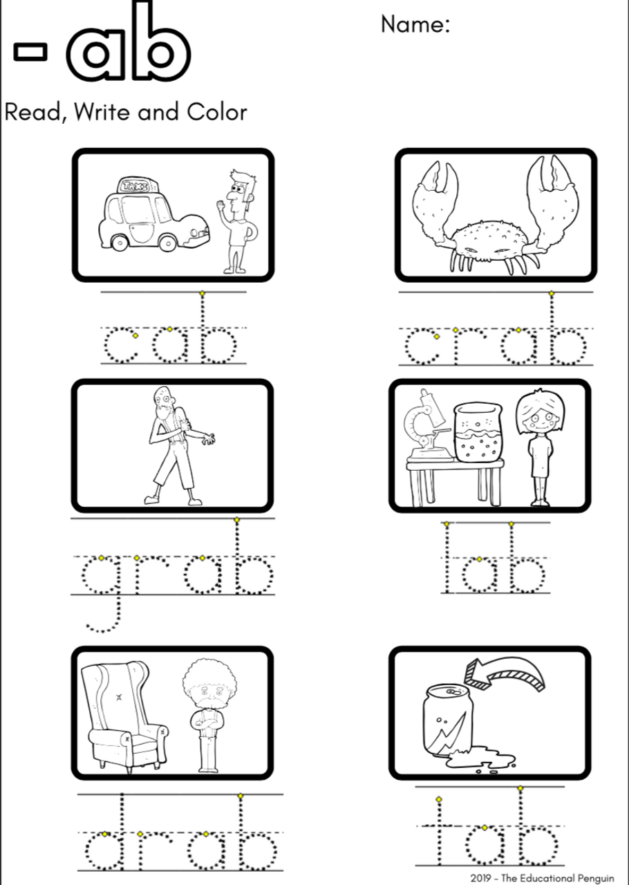 CVC Short 'a' Sound Worksheets - Amped Up Learning [ 1280 x 910 Pixel ]