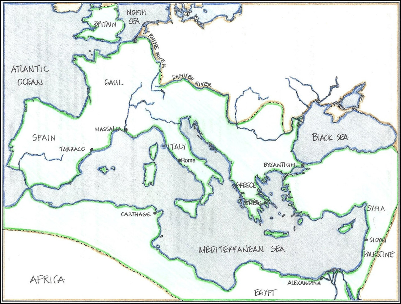 small resolution of Map: Ancient Rome - Amped Up Learning