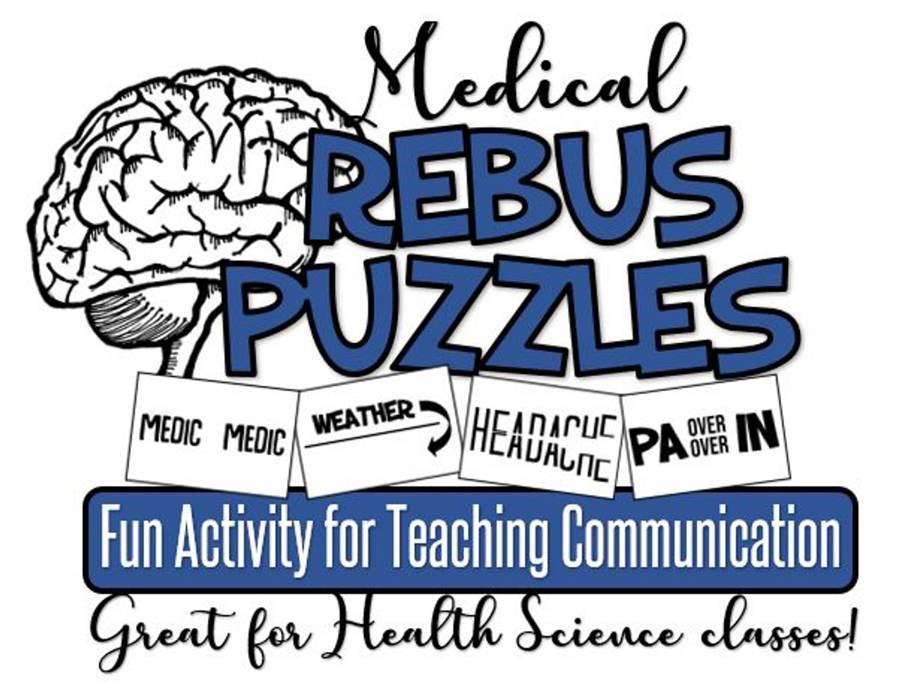 Medical Rebus Puzzles- Great for teaching Communications in Health Science!  - Amped Up Learning [ 992 x 1280 Pixel ]
