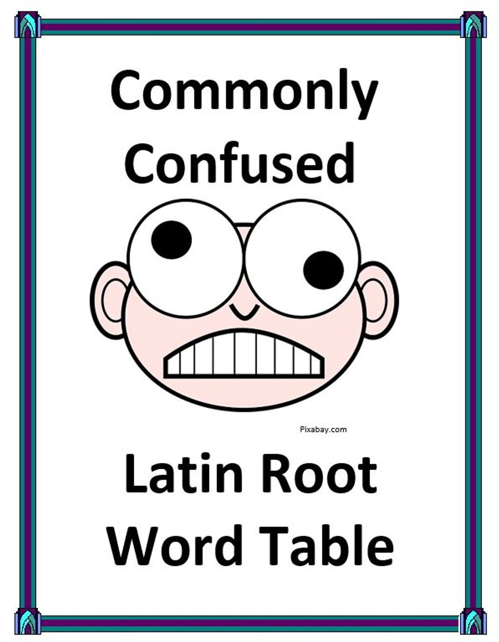 Commonly Confused Latin Root Word Listing Table - Amped Up Learning [ 1280 x 996 Pixel ]