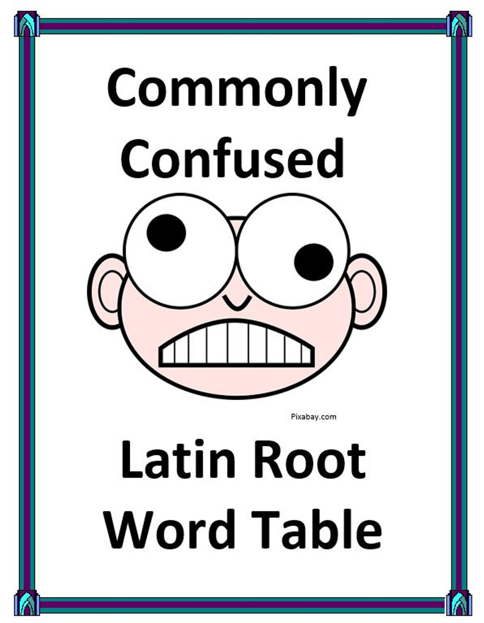 medium resolution of Commonly Confused Latin Root Word Listing Table - Amped Up Learning