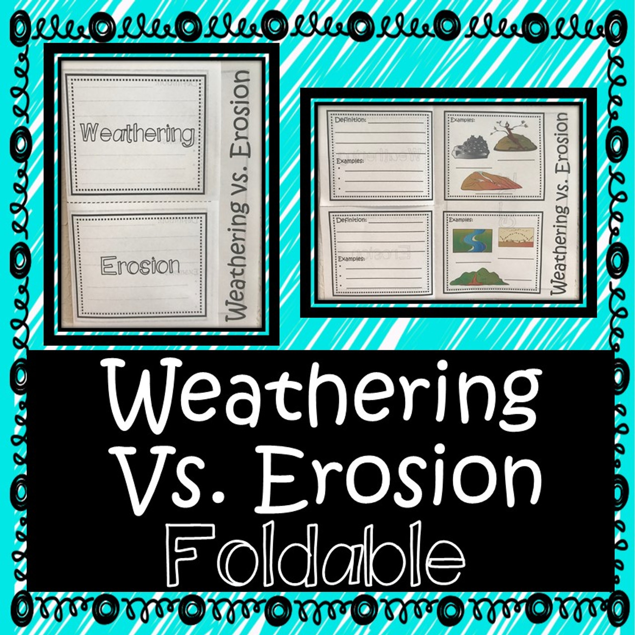 Weathering and Erosion Foldable - Amped Up Learning [ 1280 x 1280 Pixel ]