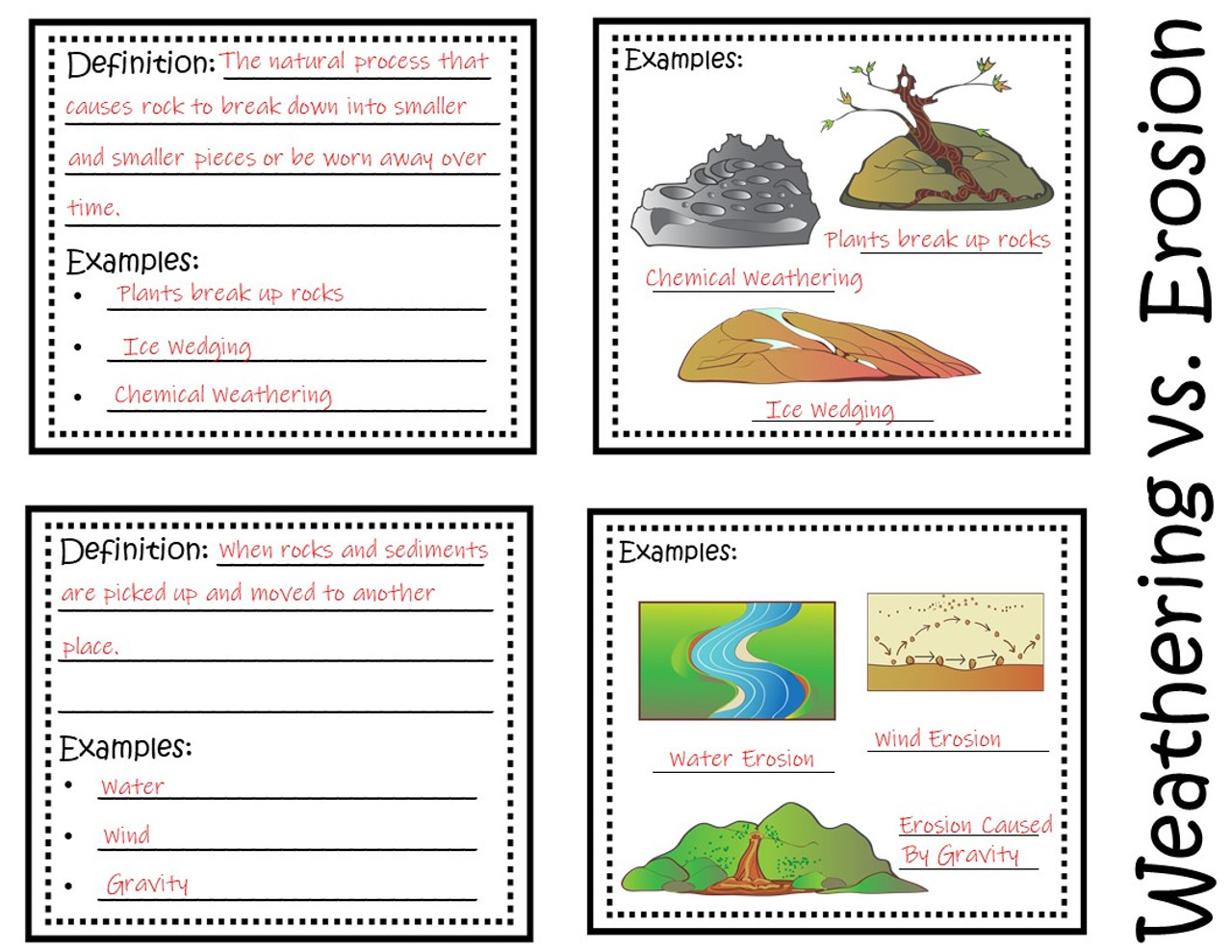 Weathering and Erosion Foldable - Amped Up Learning [ 989 x 1280 Pixel ]