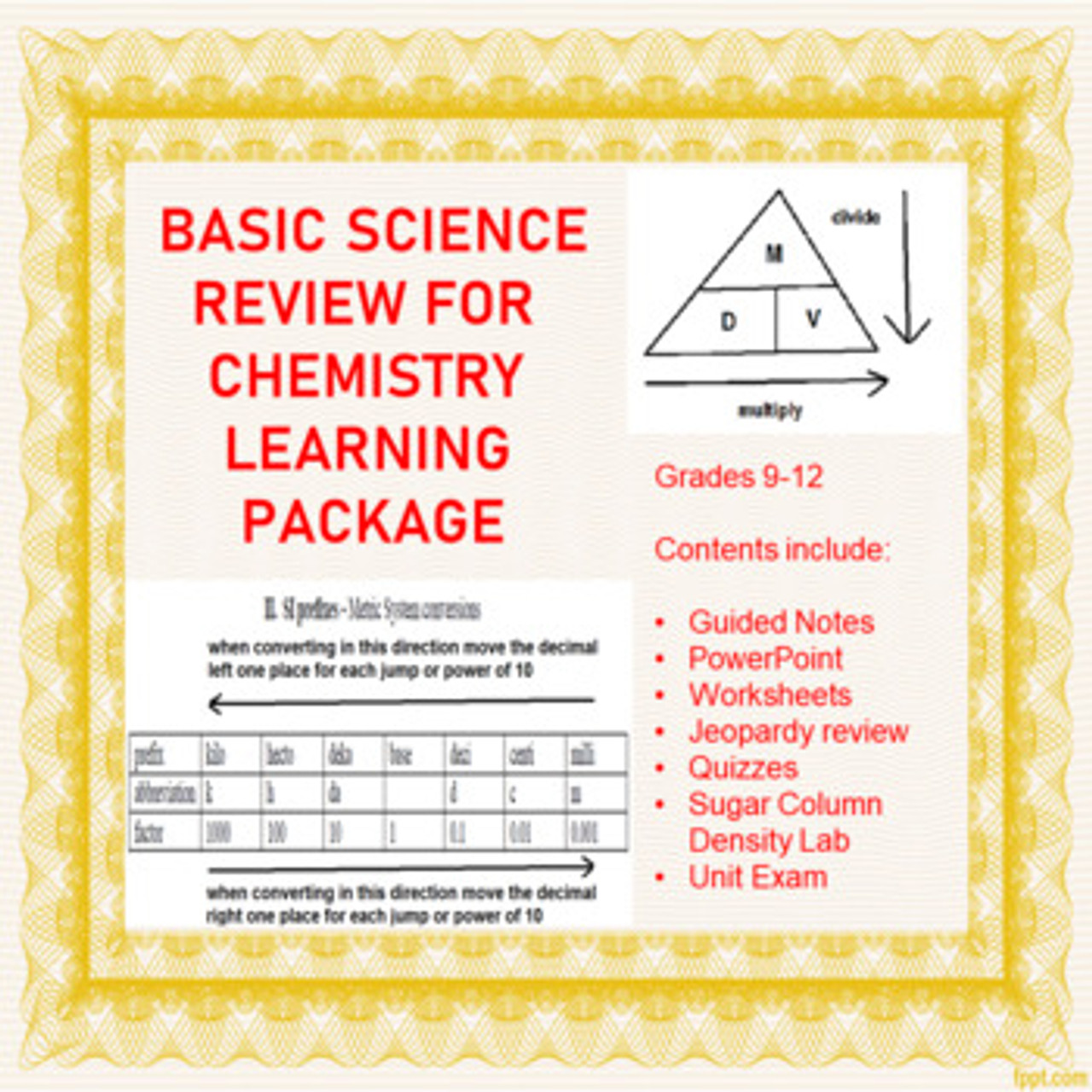 hight resolution of Basic Science Review Learning Activities for Chemistry (Distance Learning)  - Amped Up Learning